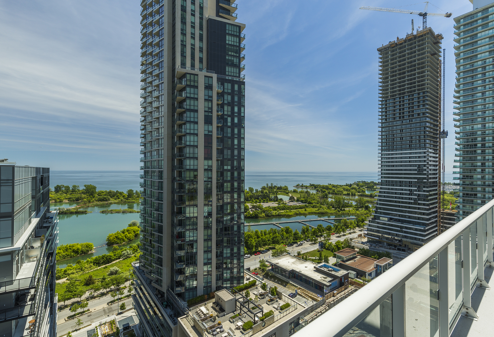 Residential Buildings In Downtown Toronto On The Lake Shore Of O
