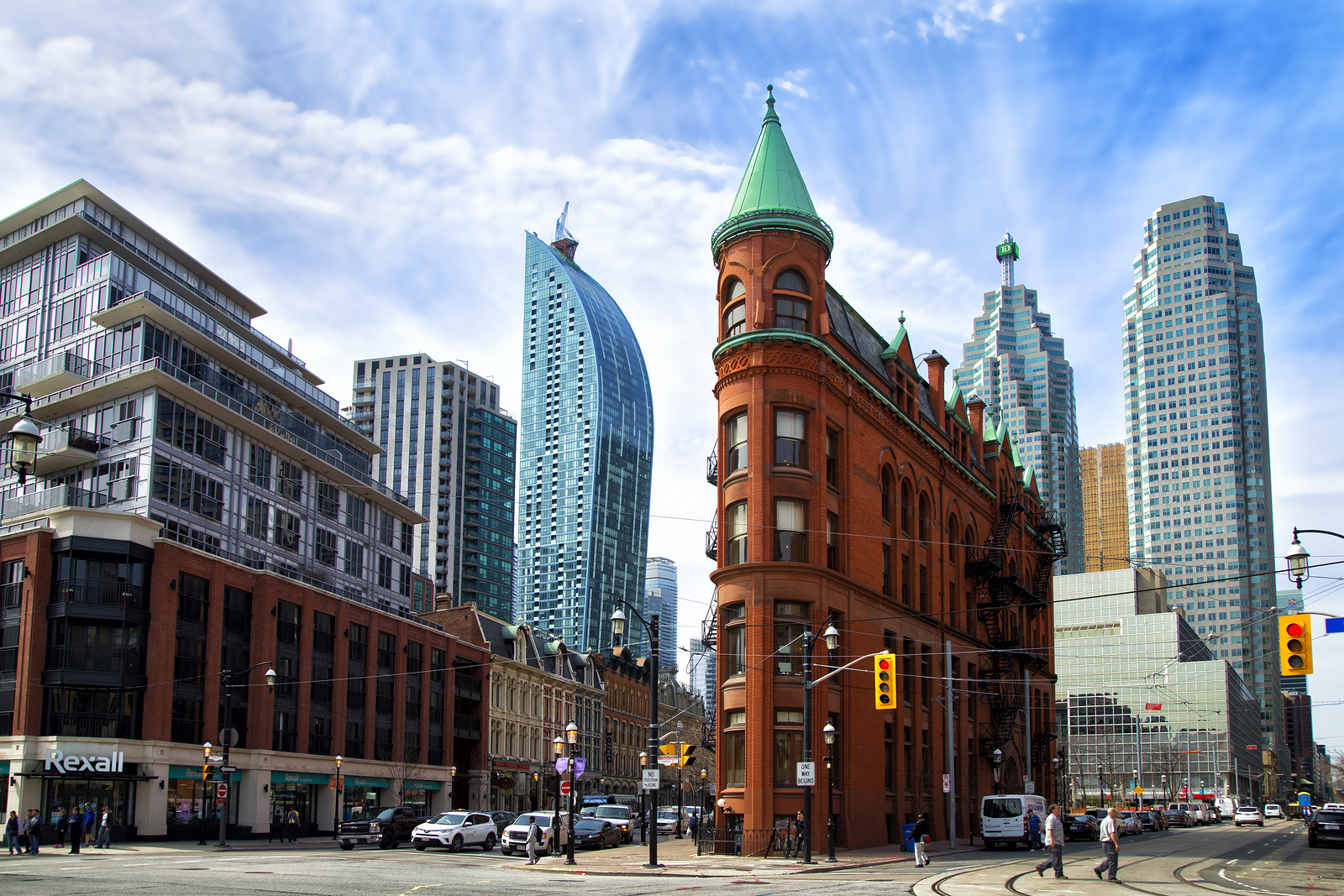 The red-brick Gooderham Building
